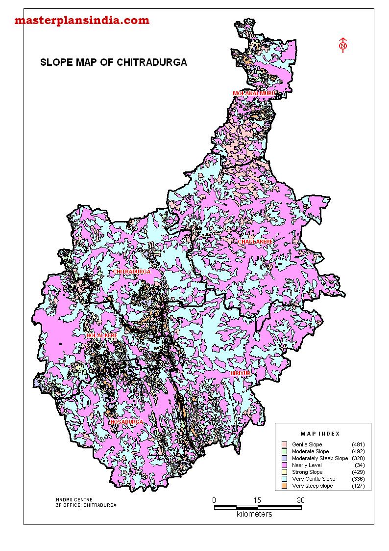 Chitradurga District Slope Map Pdf Download Master Plans