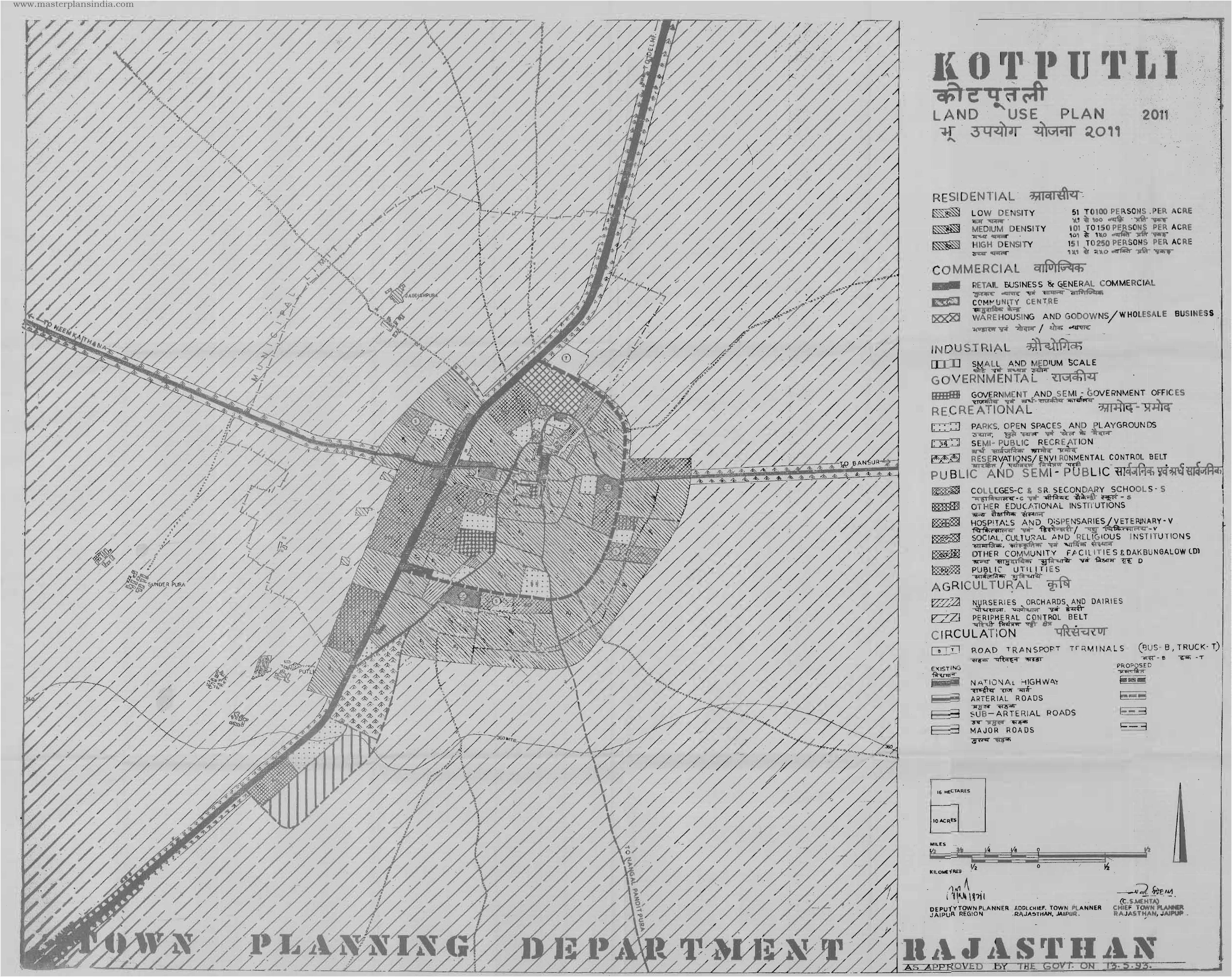 Kotputli India  City new picture : Kotputli Land Use Plan Map 2011 PDF Download Master Plans India