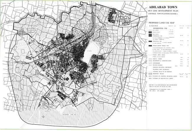 Adilabad Master Development Plan Map