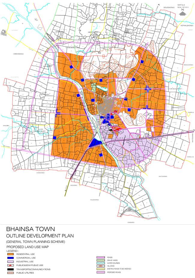 Bhiansa Master Development Plan Map