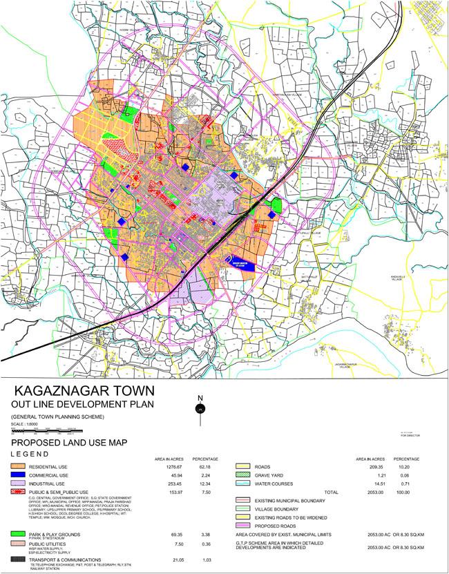 Kagaznagar Master Development Plan Map
