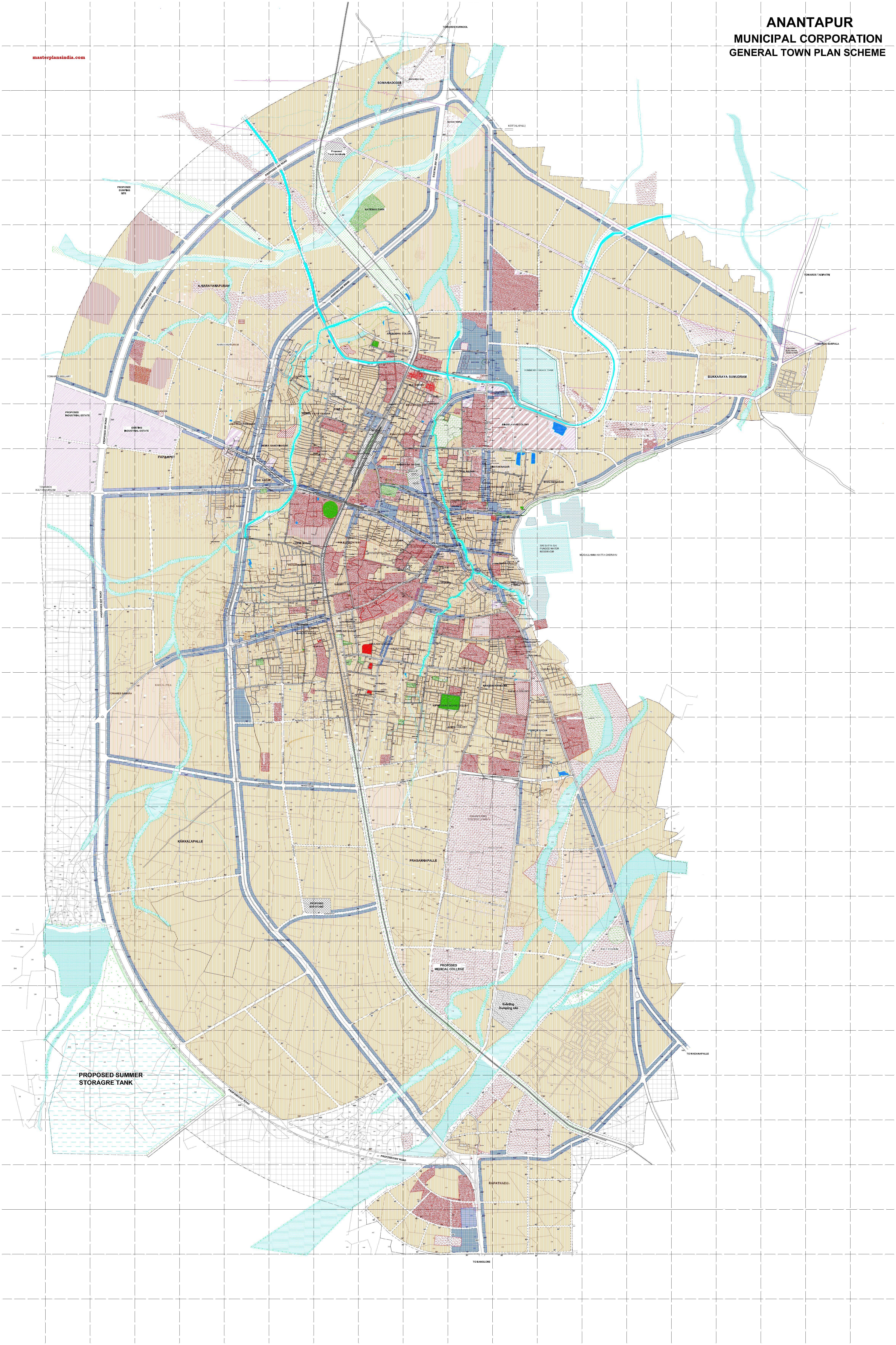 Anantapur Master Development Plan Map PDF Download - Master