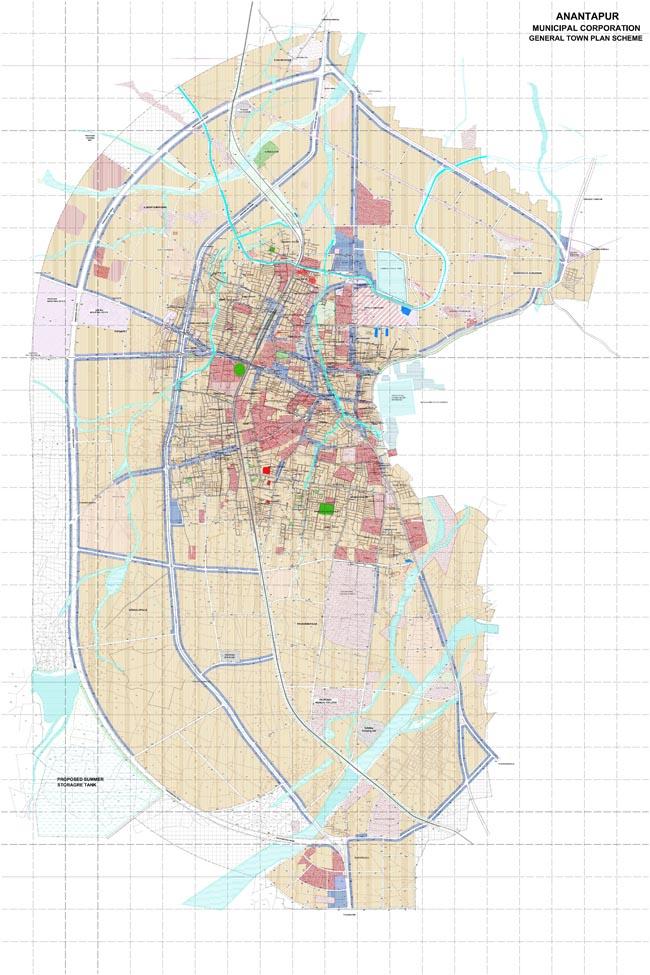 Anantapur Master Development Plan Map