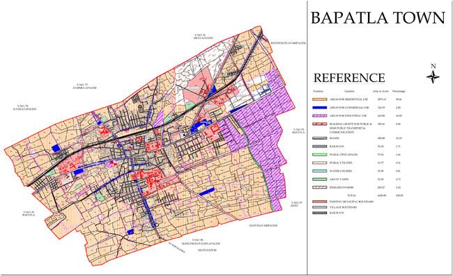 Bapatla Master Development Plan Map