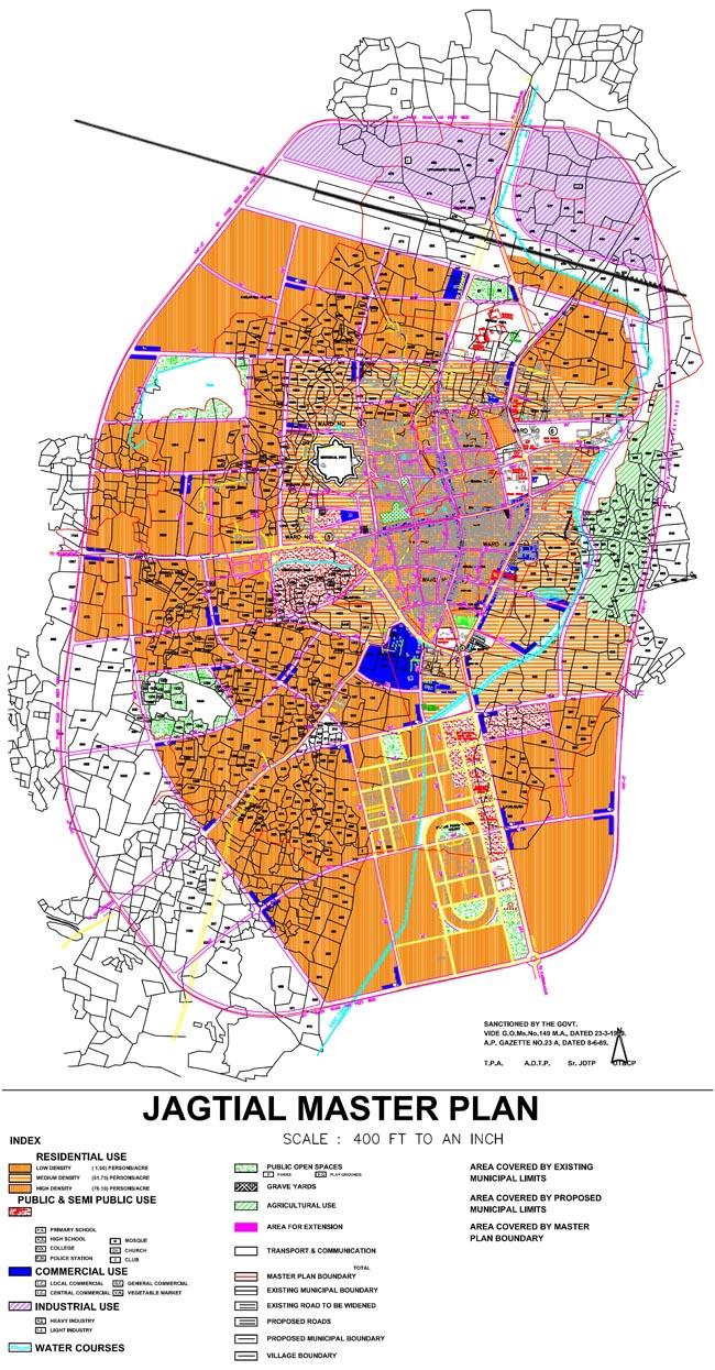 Jagityal Master Development Plan Map