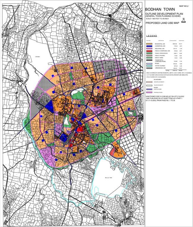 Bodhan Master Development Plan Map