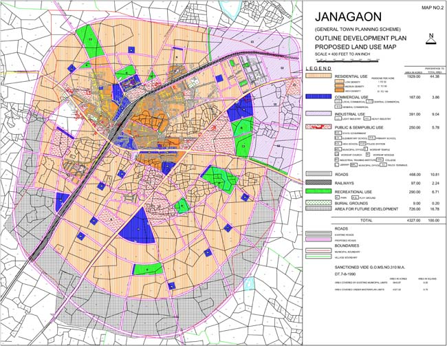 Janagaon Master Development Plan Map