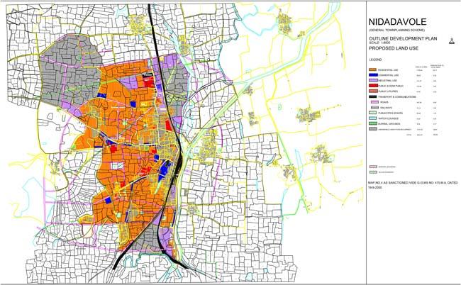 Nidadavole Master Development Plan Map