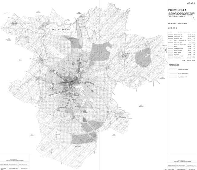 Pulivendula Master Development Plan Map