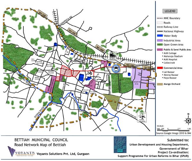 Bettiah Road Network Map