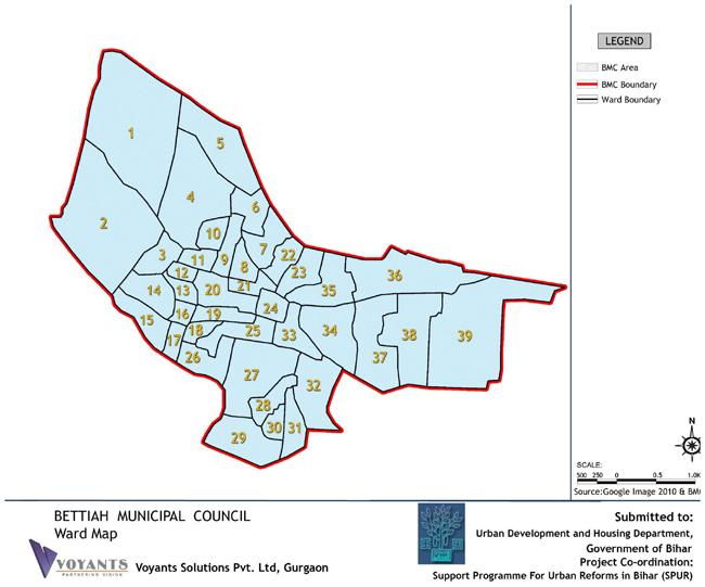 Bettiah Ward Map