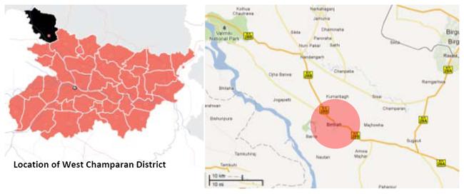 Bettiah Champaran Bihar Location