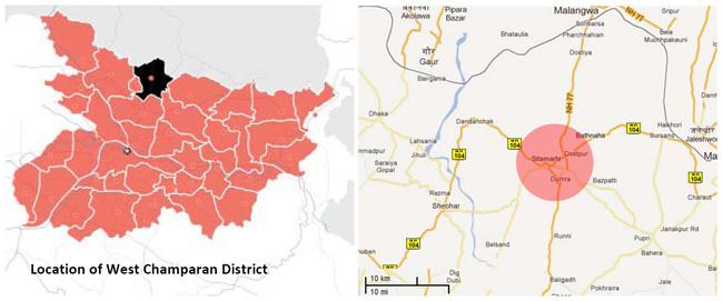 Sitamarhi West Champaran Bihar Location