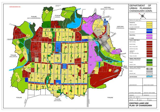 Existing Land Use Plan Map Chandigarh UT