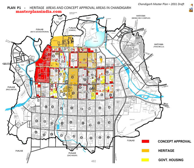 Heritage Areas and Concept Approval Area in Chandigarh