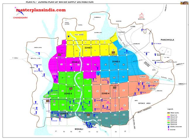 Zoning Plan of Water Supply Distribution Chandigarh