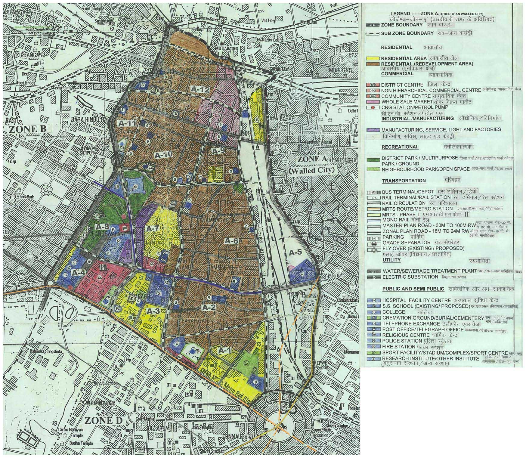 map-zone-a-delhi-old-city Janani Suraksha Yojana Application Form Download on