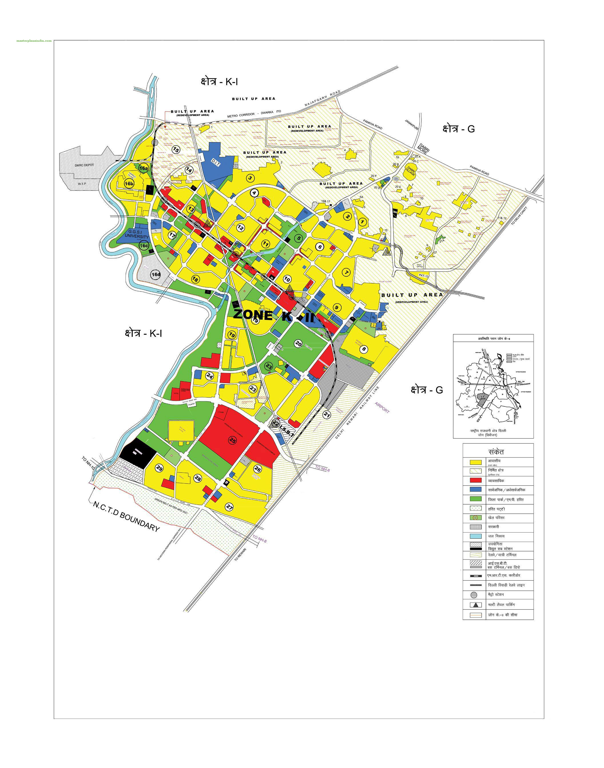 Zonal development plan map zone k2 west delhi 1 pdf for Zone plan