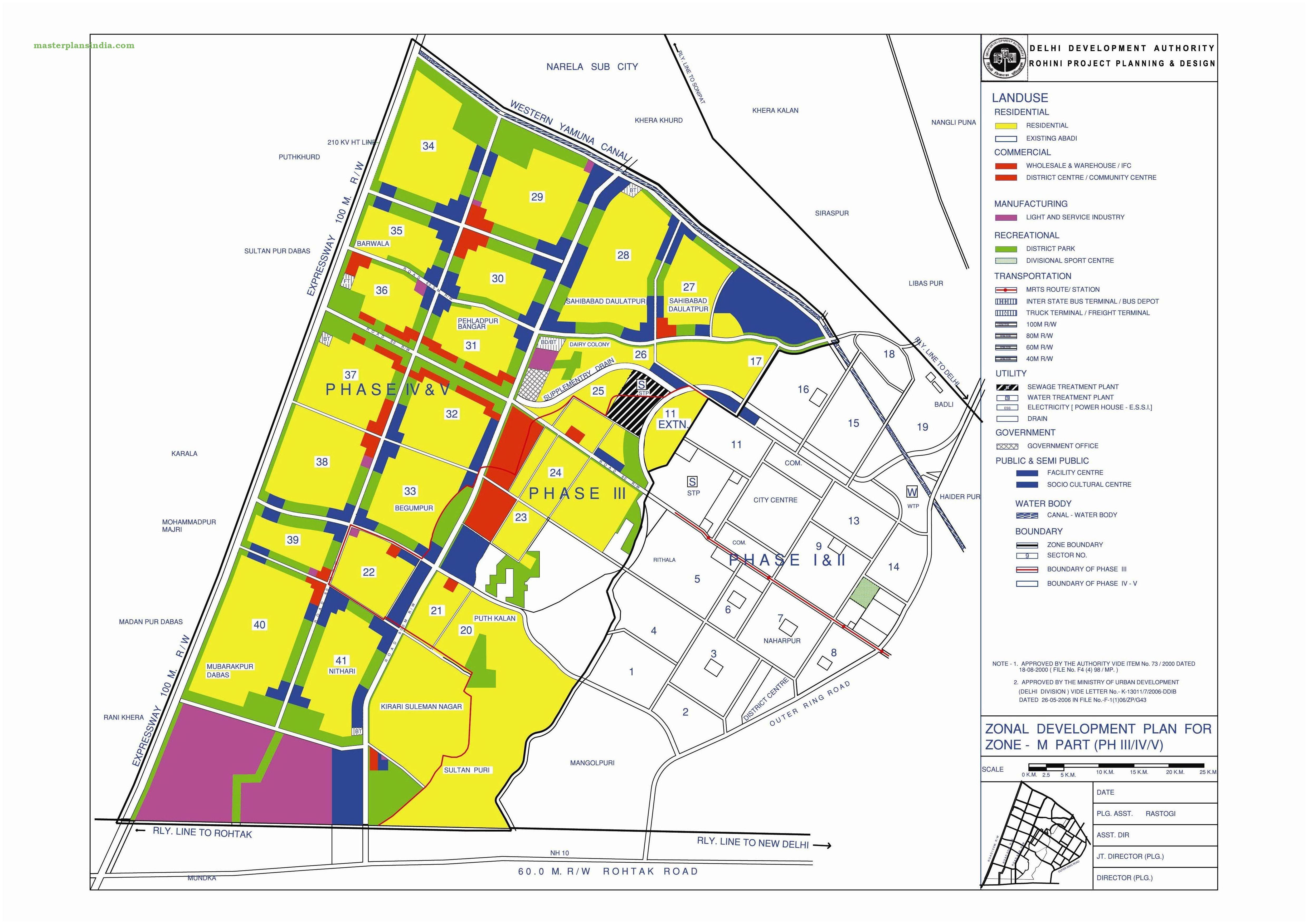 Zonal development plan map zone m north west delhi 2 pdf for Zone plan