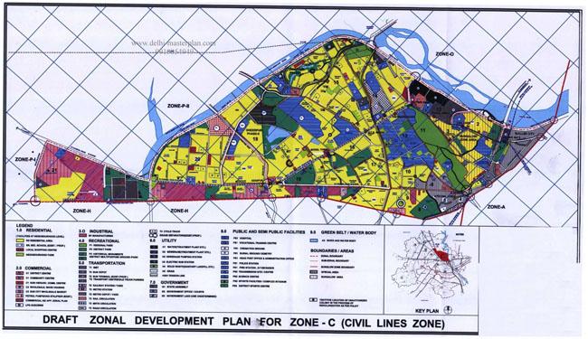 Zonal Development Plan Map Zone c Civil Lines