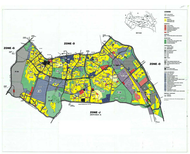 Zonal Development Plan Map Zone F1 New Delhi