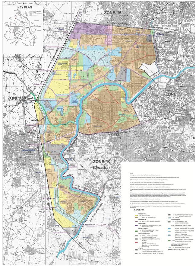 Zonal Development Plan Map Zone K1 South West Delhi 1