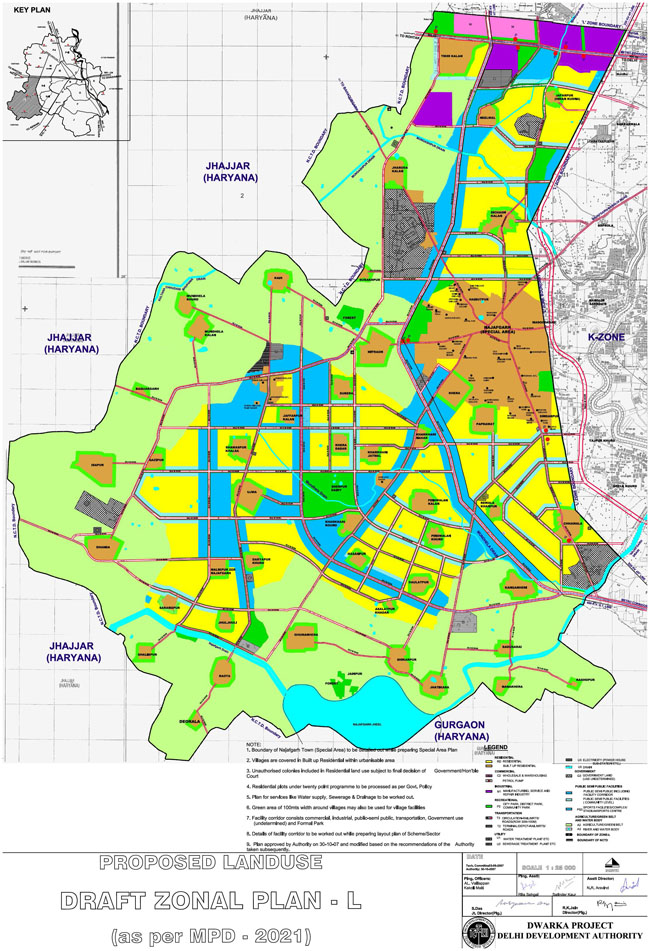 Zonal Development Plan Map Zone 1 West Delhi 3
