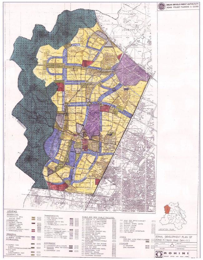 Zonal Development Plan Map Zone N North West Delhi 3