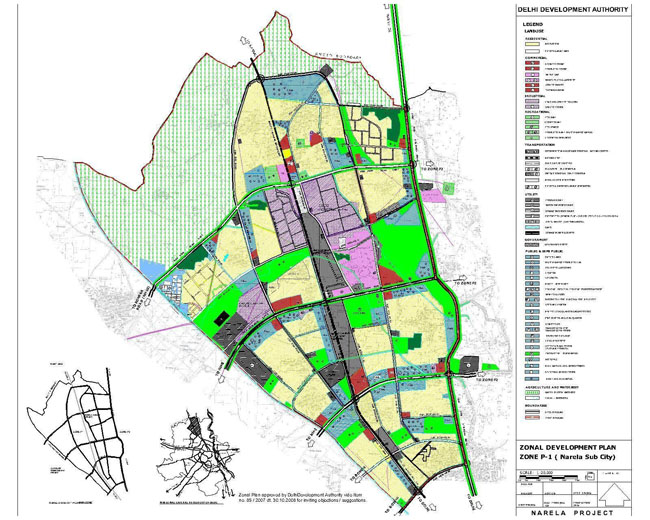 Zonal Development Plan Map Zone P1 Delhi