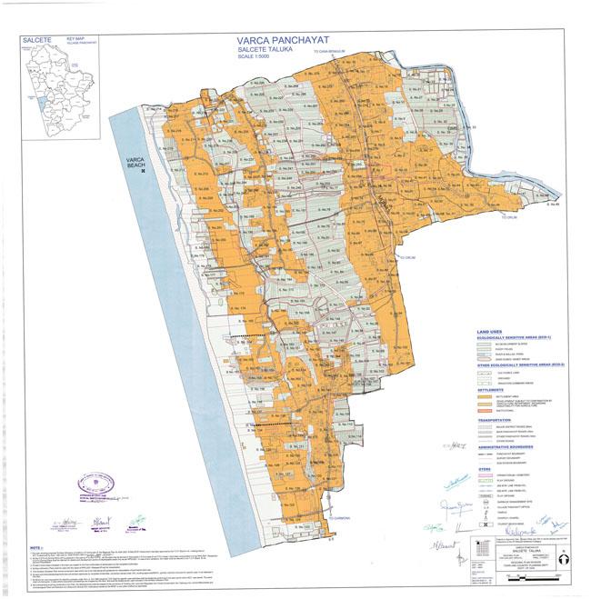 Varca Salcette Regional Development Plan Map