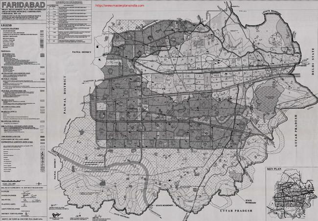 Faridabad Master Plan 2031 Map