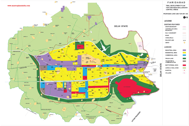 Faridabad Master Plan Map