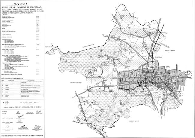 Sohna Master Plan 2031 Map