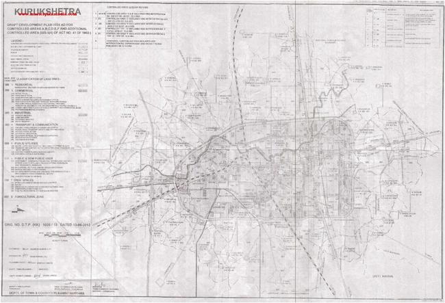 Kurukshetra Master Plan 2031 Map Draft