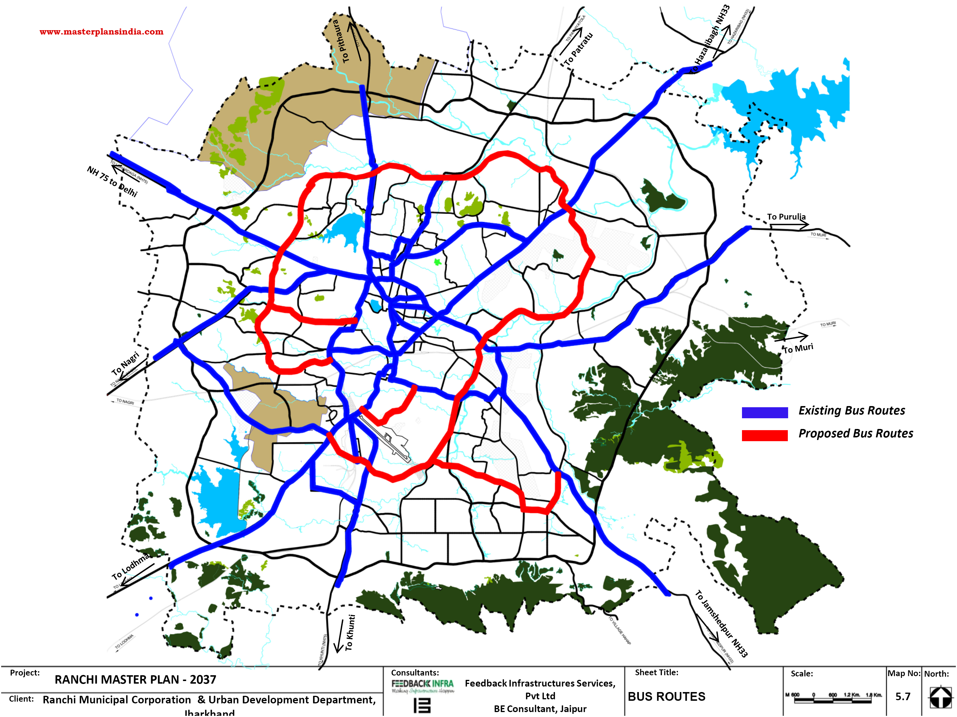 Location Of Ranchi In India Map.Ranchi Bus Routes Pdf Download Master Plans India