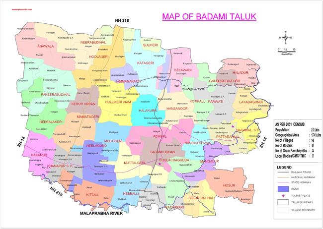 Badami Taluk Map
