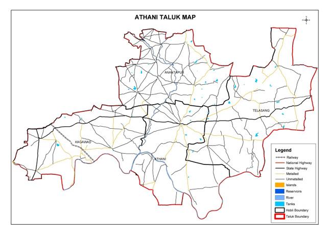 Athani Taluk Map
