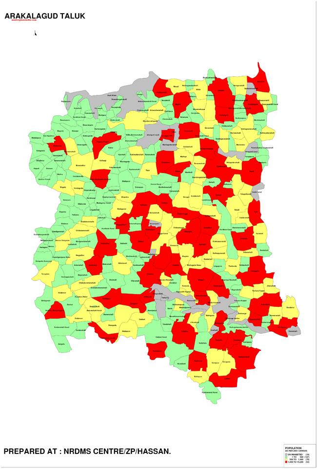 Arakalagud Taluk Map-1