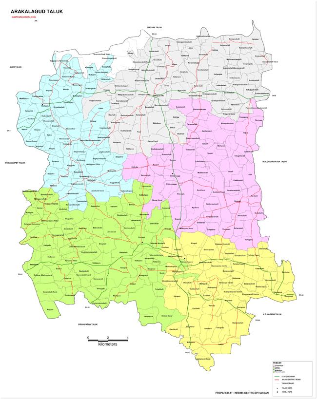 Arakalagud Taluk Map-2
