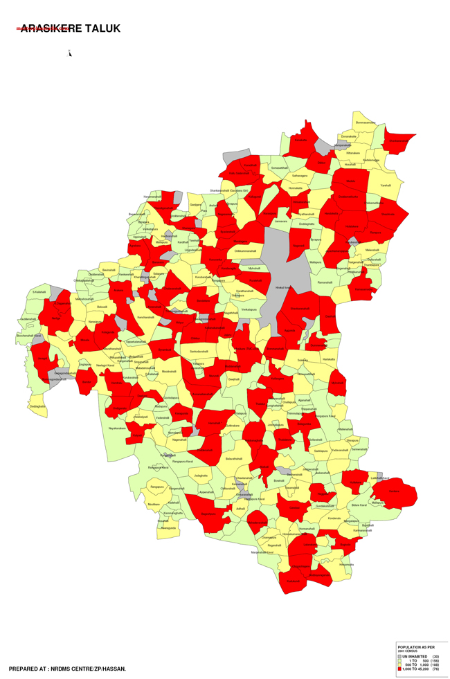 Arasikere Taluk Map