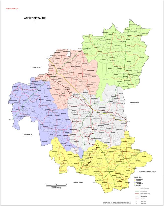 Arsikere Taluk Map