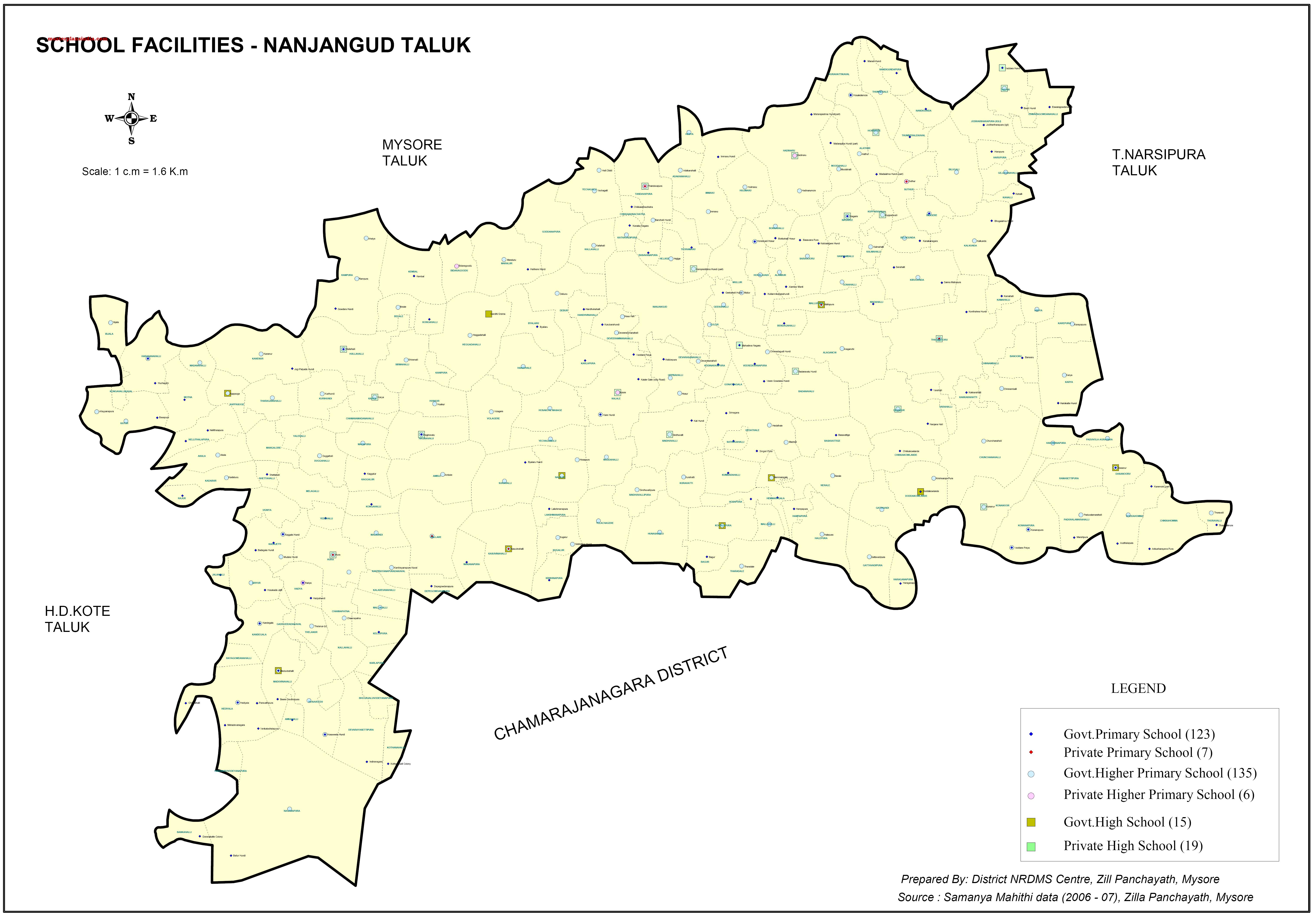nanjagud-taluk--facilities-map Janani Suraksha Yojana Application Form Download on