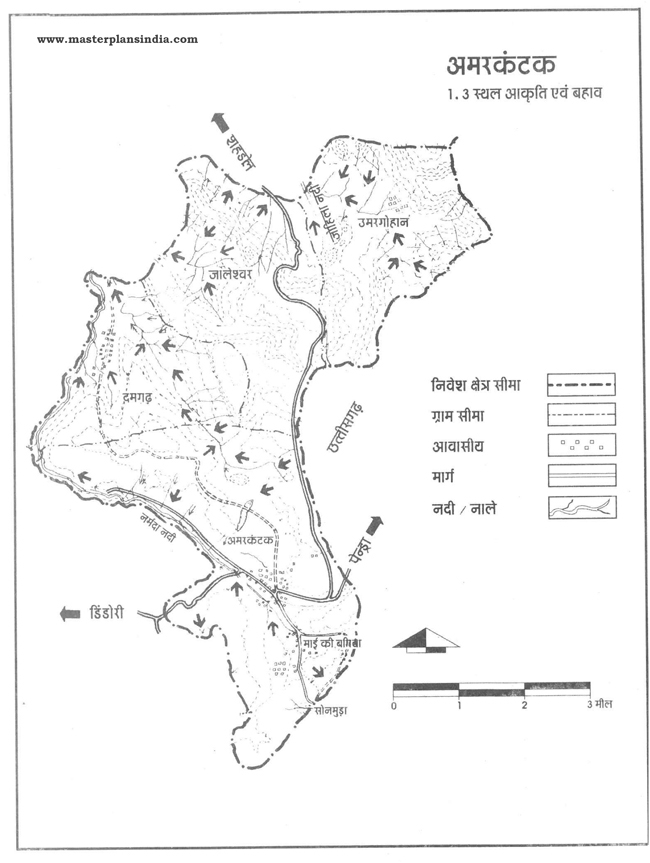 Amarkantak Area Water Slope Map