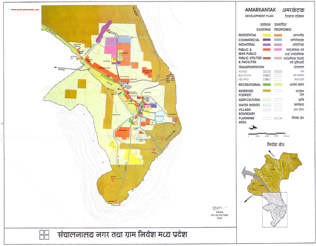 Amarkantak Development Plan Map
