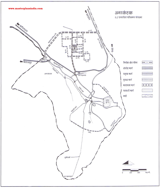 Amarkantak Draft Route Map