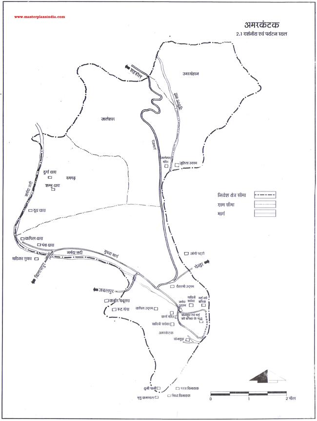 Amarkantak Tourist Map