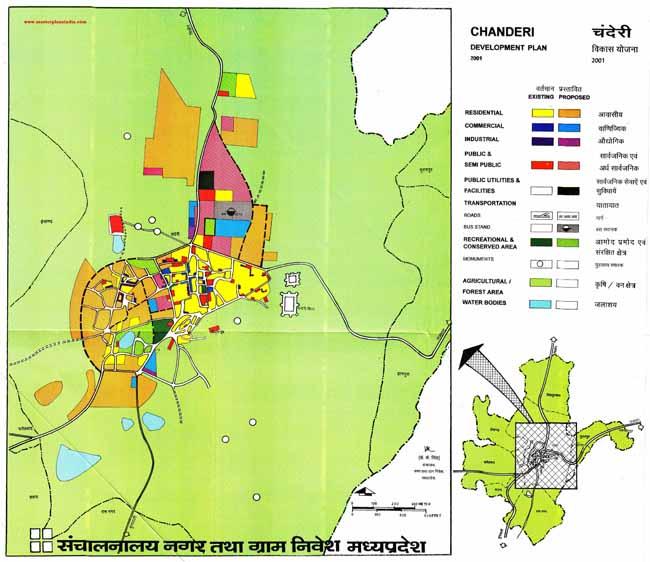 Chanderi Master Development Plan 2001 Map