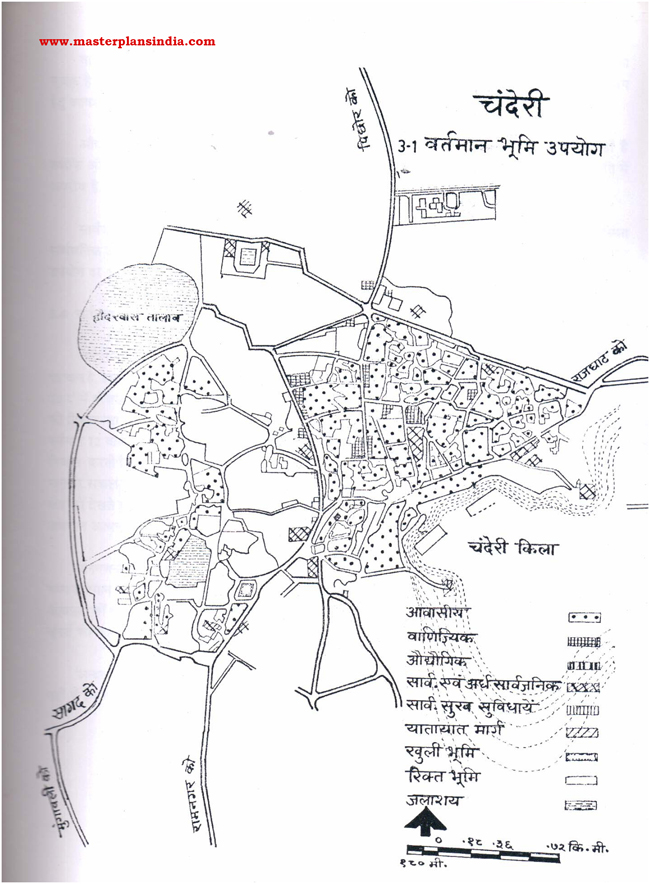 Chanderi Existing Land Use Map