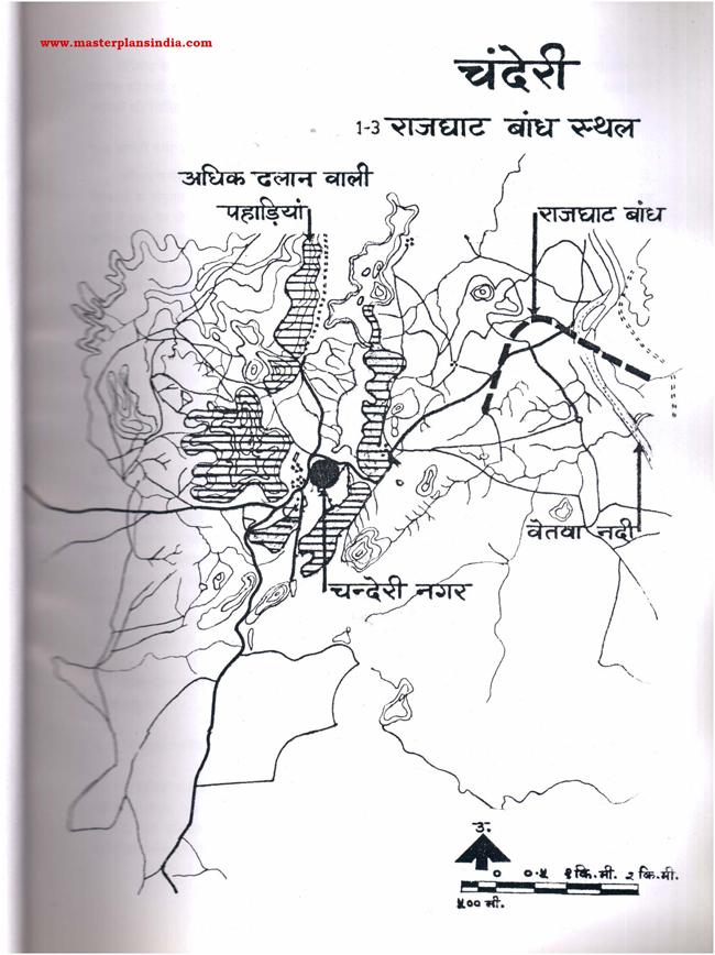 Chanderi Rajghat Dam Place Map