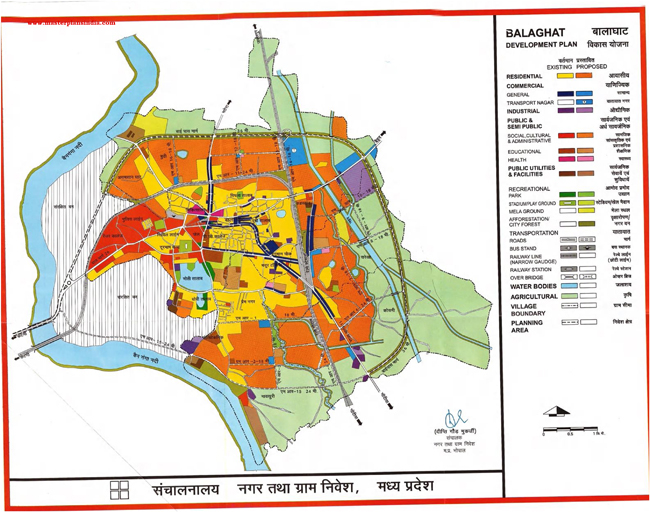 Balaghat Development Plan Map